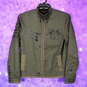 Affliction Black Premium Serenity Military Jacket